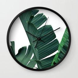 Tropical Leaf Print, Botanical Wall Art Print, Banana Leaf Print ,Tropical Decor Wall Clock