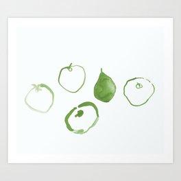 Pommes - Olive Art Print