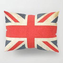 Vintage Union Jack British Flag Pillow Sham