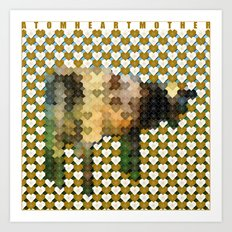 Atom Heart Mother Art Print