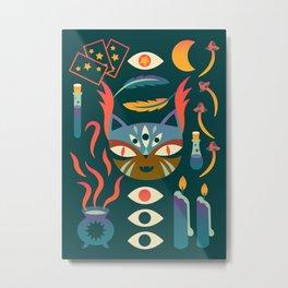 Magic Cat Art Metal Print