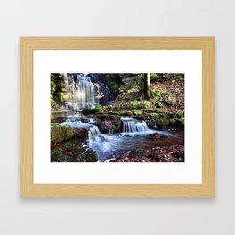 Scaleber Foss Waterfall Framed Art Print
