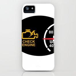 Check Engine Warning Symbol Icon iPhone Case