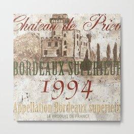Bordeaux Blanc 2 Metal Print