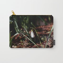 Spring Snowdrop Carry-All Pouch