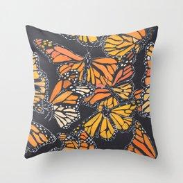 Monarch Print Throw Pillow