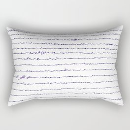 Ocean asemic calligraphy for unique home decoration Rectangular Pillow