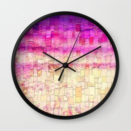 Pink Sea Mosaic Wall Clock