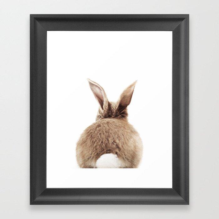 Bunny Back Gerahmter Kunstdruck