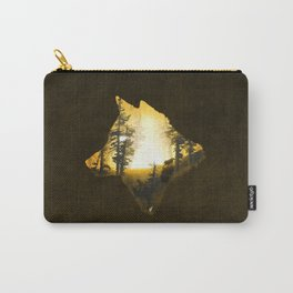 Yellow Wolf Carry-All Pouch