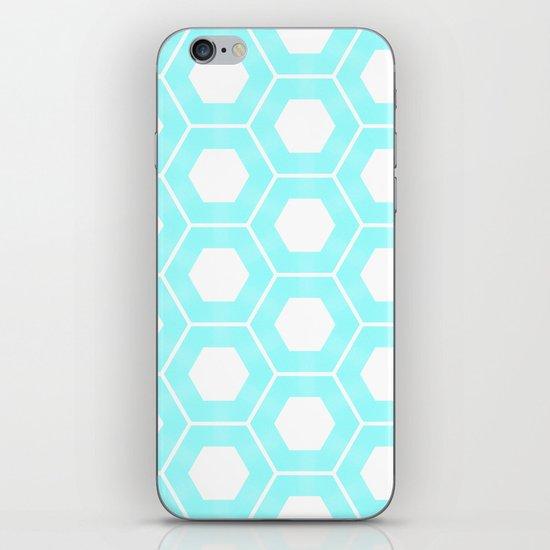 Nieuwland Powder Blue Hexagons Pattern iPhone & iPod Skin