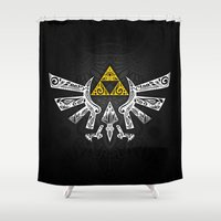 hyrule Shower Curtains featuring Zelda Hyrule by Art & Be