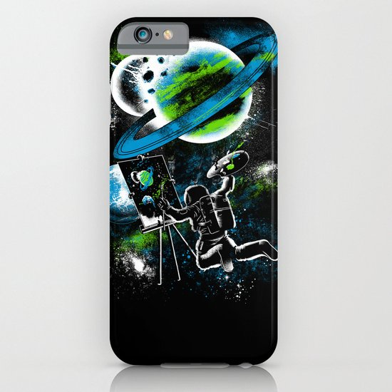 space Painting iPhone & iPod Case