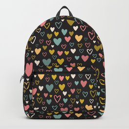 Cute Doodle Heart Shapes Backpack