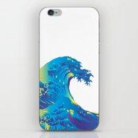 hokusai iPhone & iPod Skins featuring Hokusai Rainbow_B by FACTORIE