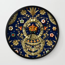 Art Nouveau Floral Pattern Wall Clock