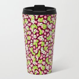 Purple Ditsy Travel Mug