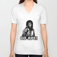 ape V-neck T-shirts featuring Vintage Ape * Go Ape by Freak Shop | Freak Products