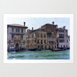 Venice Palazzos on CANALE GRANDE Art Print
