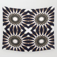 chocolate Wall Tapestries featuring Chocolate Flower Mandala Pattern by 2sweet4words Designs