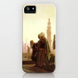 Islamic Masterpiece 'Prayer in Cairo' by Jéan Leon Gerome iPhone Case