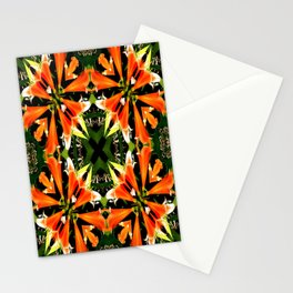 Orange Abstract Stationery Cards