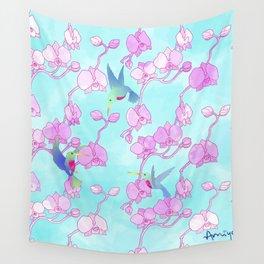 orquídeas Wall Tapestry