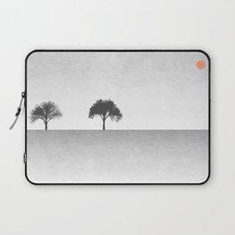 Tree Artwork Grey And Black Landscape Laptop Sleeve