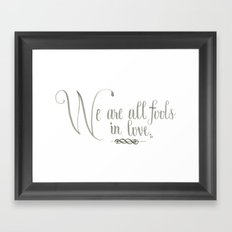 Fools In Love Framed Art Print