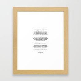 Typewriter Style Quote ((Tyler Kent White)) Framed Art Print