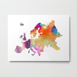 Europe map 2 Metal Print