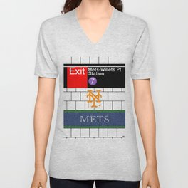 NYC Mets Subway Unisex V-Neck