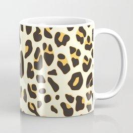 Trendy brown black abstract jaguar animal print Coffee Mug