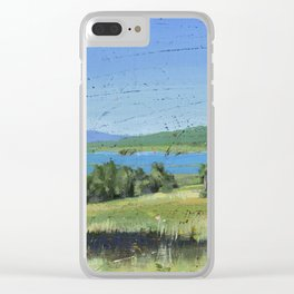 cabin - by phil art guy Clear iPhone Case