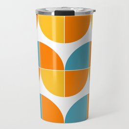 Geometric abstract mid century modern tulip flowers Travel Mug