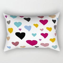 Hearts in Hues Rectangular Pillow