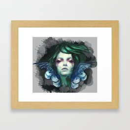 Blue Swan  Framed Art Print