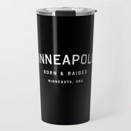 Minneapolis - MN, USA (Black Arc) Travel Mug