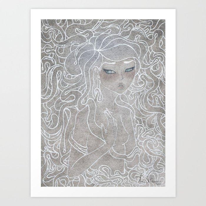 Young Medusa Art Print