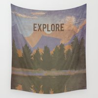 explore Wall Tapestries featuring Explore by RachelMosley