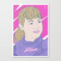 orphan black Canvas Prints featuring Alison - Orphan Black by Silfredo Nuñez
