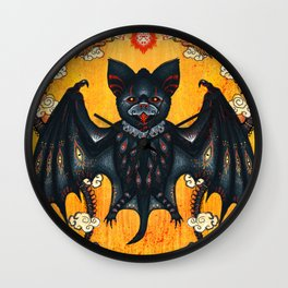 Black Bat Wall Clock