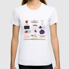 Once Upon a Time Quotes SMALL Ash Grey Womens Fitted Tee