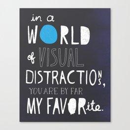 Visual Distractions Canvas Print