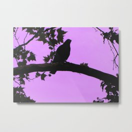 The pink bird Metal Print