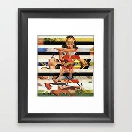 Glitch Pin-Up Redux: Lindsey Framed Art Print