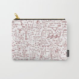 Physics Equations in Red Pen Carry-All Pouch