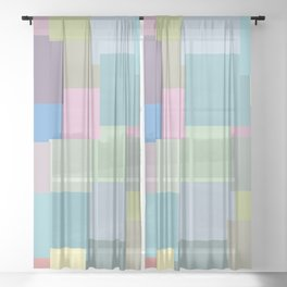 Sticky colours Sheer Curtain