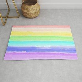 Rainbow Watercolor Rug