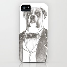 """""""Lord Maximus"""", Black and White drawing iPhone Case"""